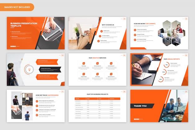 Шаблон минимальной бизнес-презентации
