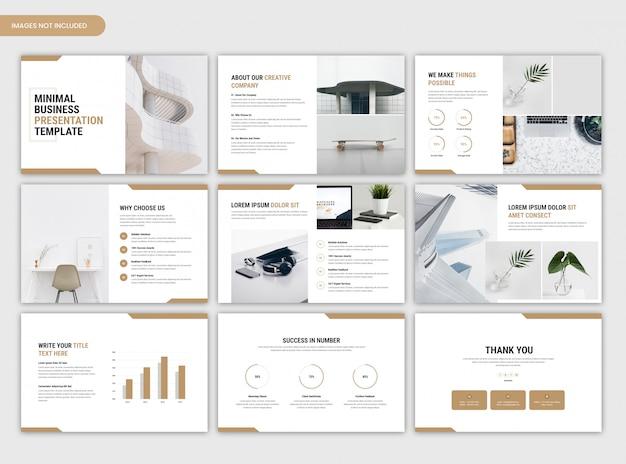 Шаблон корпоративного слайдера минимальной бизнес-презентации