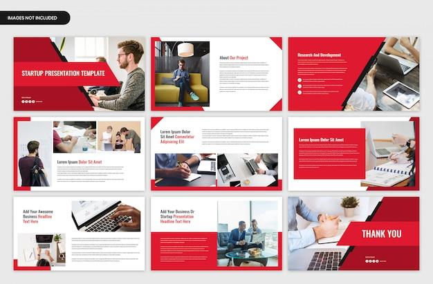 スタートアッププロジェクトの概要とビジネスプレゼンテーションテンプレート
