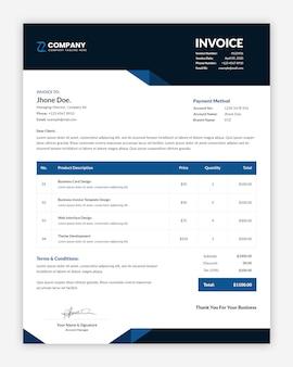 Минимальный дизайн шаблона корпоративного бизнес-счета