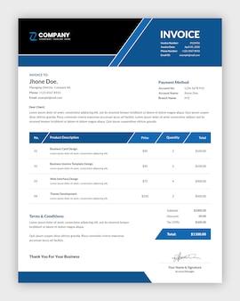 プロのビジネス請求書テンプレートデザイン