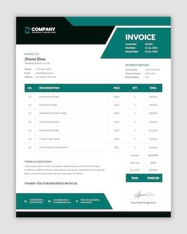 Шаблон минимального счета-фактуры в традиционном стиле