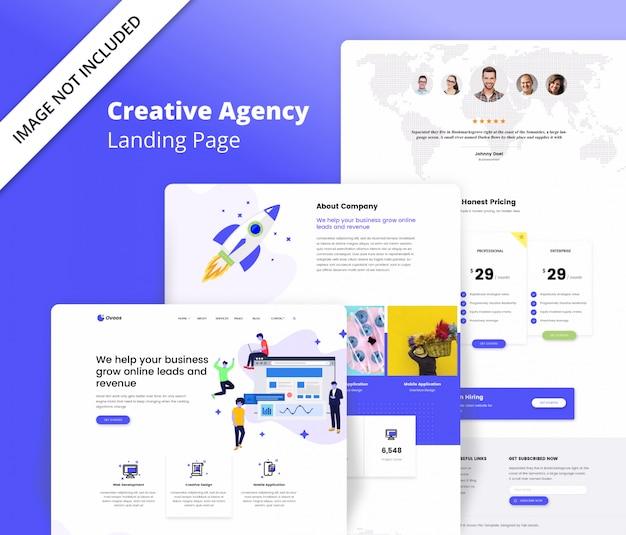 Шаблон целевой страницы креативного агентства