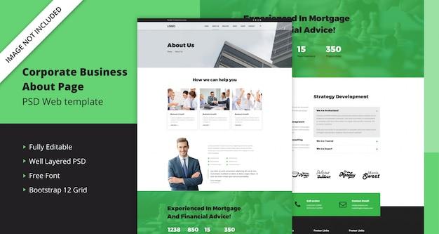 Целевая страница корпоративного бизнеса