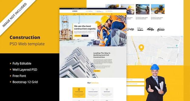 Шаблон сайта для строительства
