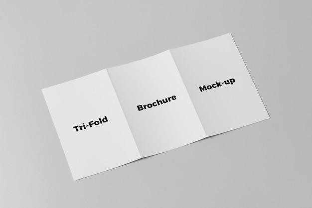 Тройной макет брошюры