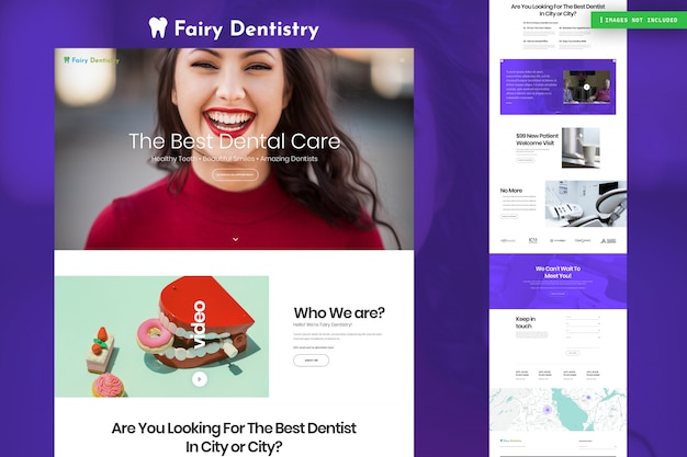 Страница веб-сайта стоматолога