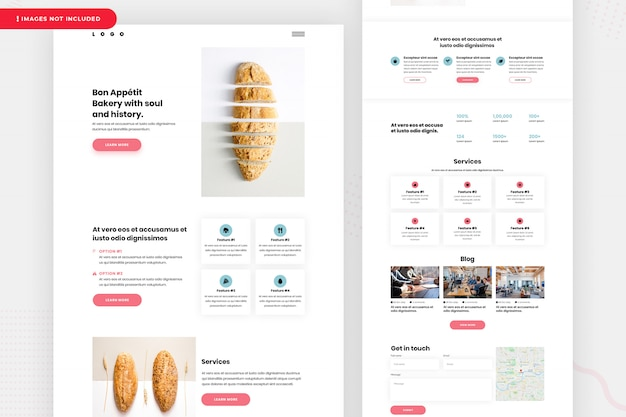 Дизайн целевой страницы пекарни