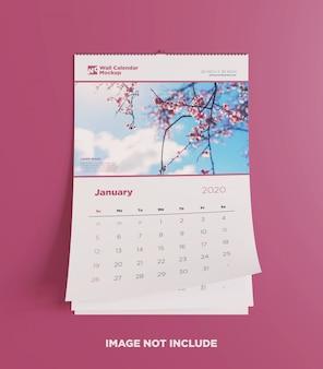 Настенный календарь макет вид спереди
