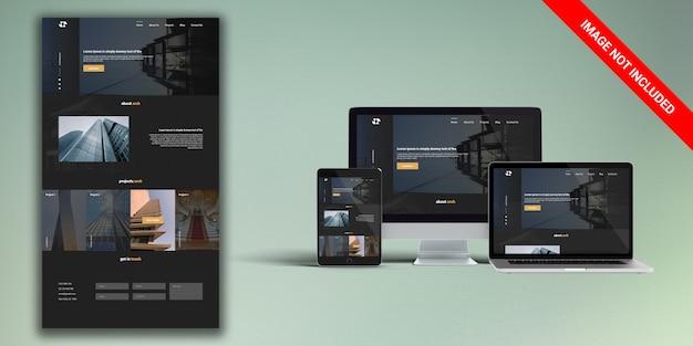 建築ウェブサイトのデザイン