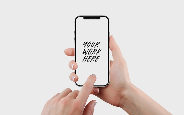 Шаблон макета экрана мобильного телефона