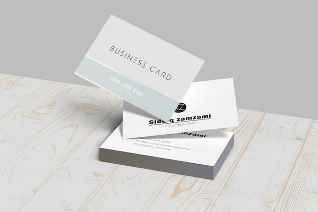 Плавающая белая визитка с