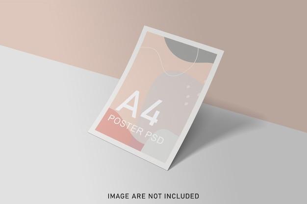柔らかな色のポスターモックアップ
