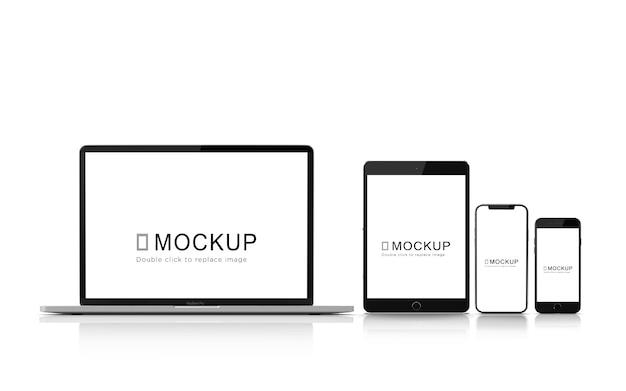 デジタルデバイスモックアップセット