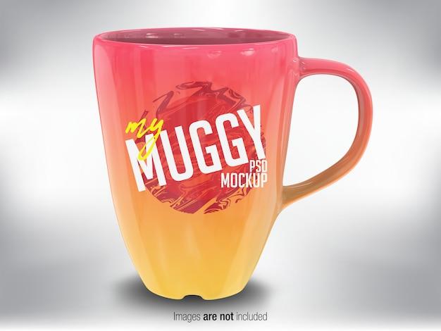 カラフルなマグカップの正面図
