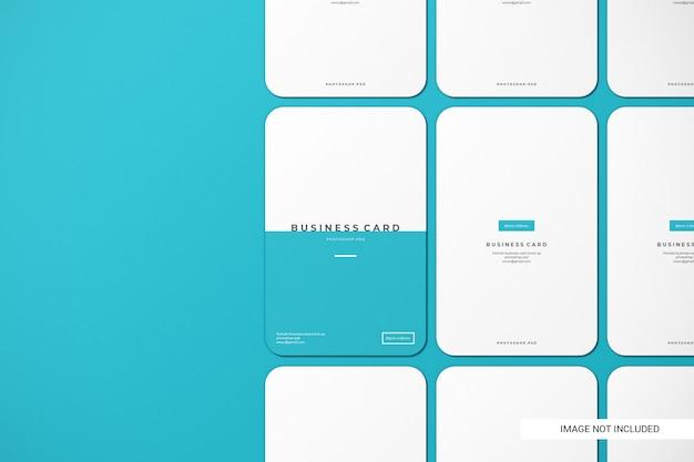 Закругленный макет визитки