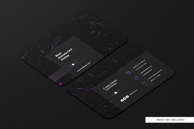 Черный округлый макет визитки