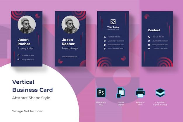 Абстрактный вертикальный шаблон визитной карточки