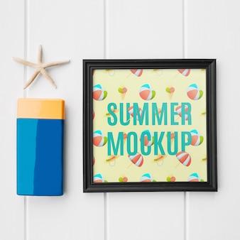 Кадровый макет с летней концепцией