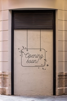 Скоро открытие магазина макета