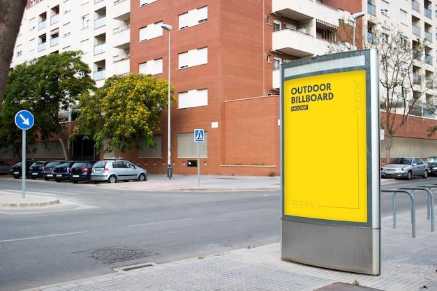 Наружный рекламный щит в городе