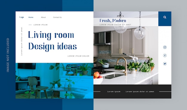 家具のランディングページテンプレート