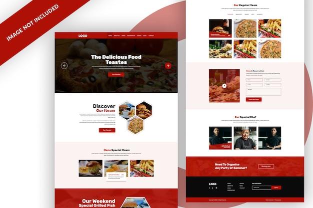 Веб-шаблон ресторана еды