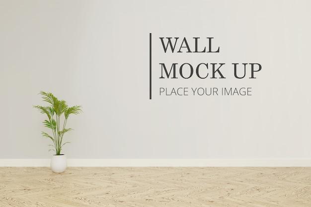 Макет стены комнаты с растением