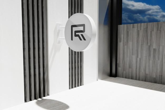 Логотип офисная вывеска макет