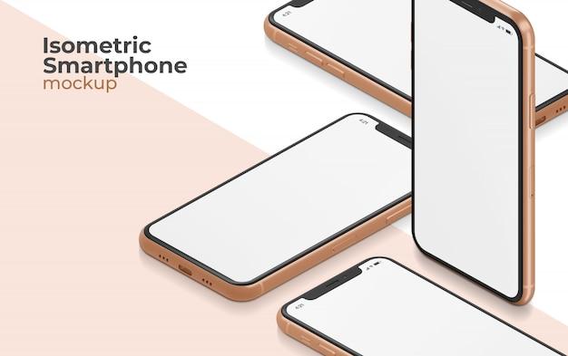 等尺性スマートフォンモックアップ