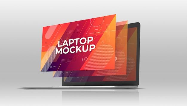 Ноутбук макбук макет