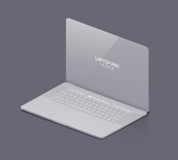 Глиняный ноутбук макет ноутбука