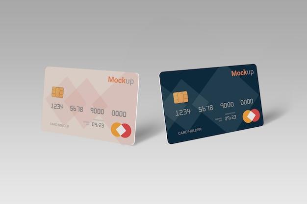 デビットカード、クレジットカード、スマートカードのモックアップ