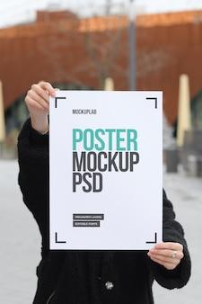 Вертикальный макет плаката