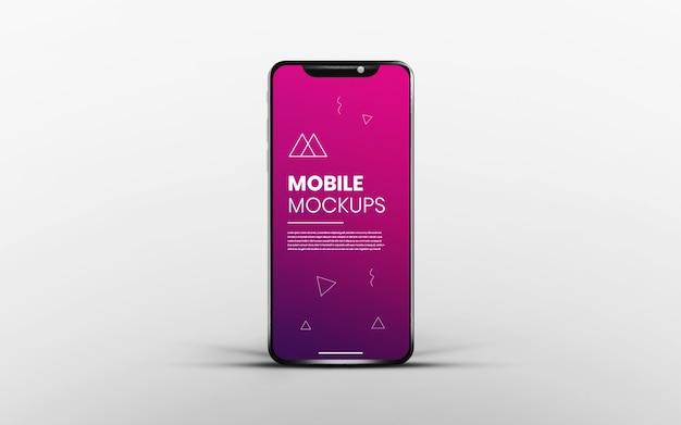 Реалистичное и чистое приложение экрана смартфона белого макета