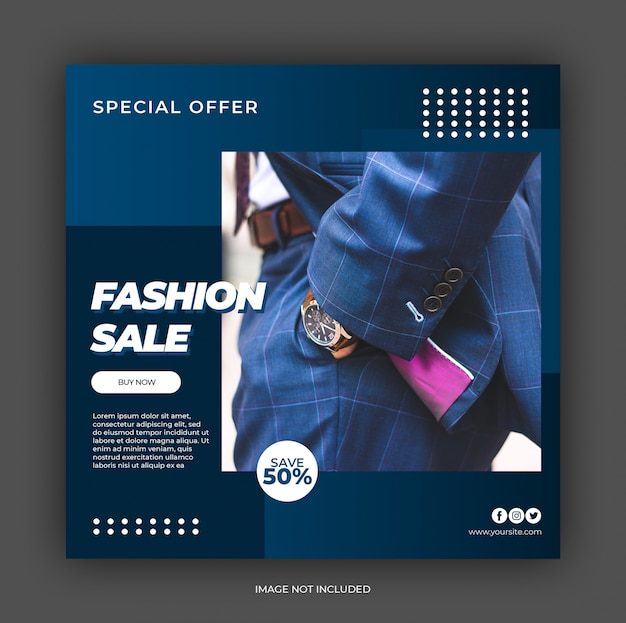 Мода продажа квадратный баннер шаблон