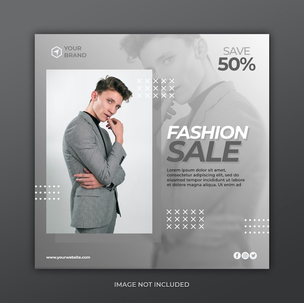 ファッション販売バナーテンプレート