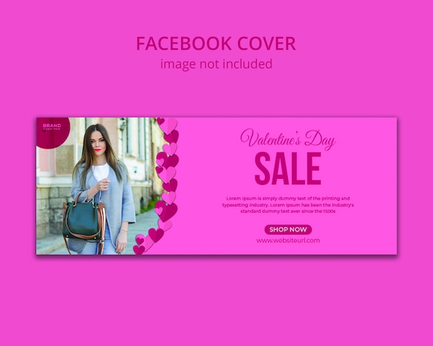 Баннер продажи валентинки