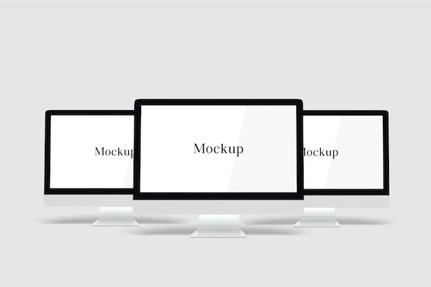 デスクトップコンピューターのモックアップ
