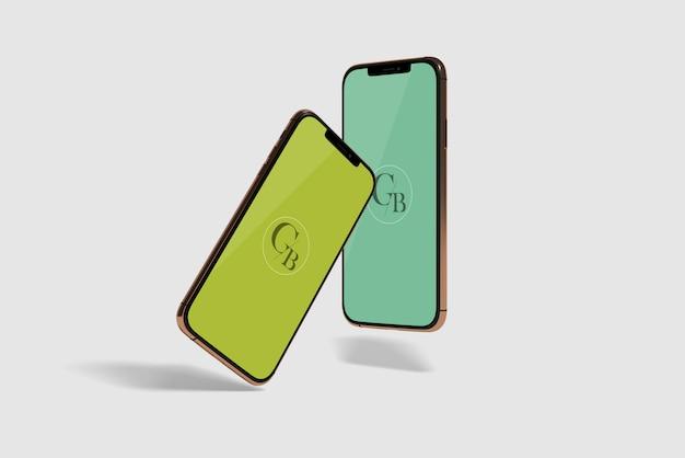 携帯電話画面のモックアップ
