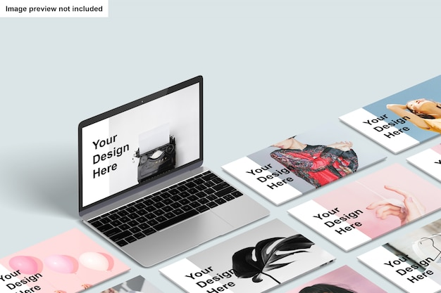 Макет экрана ноутбука