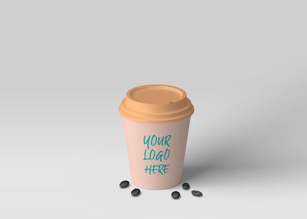 コーヒーカップのモックアップ