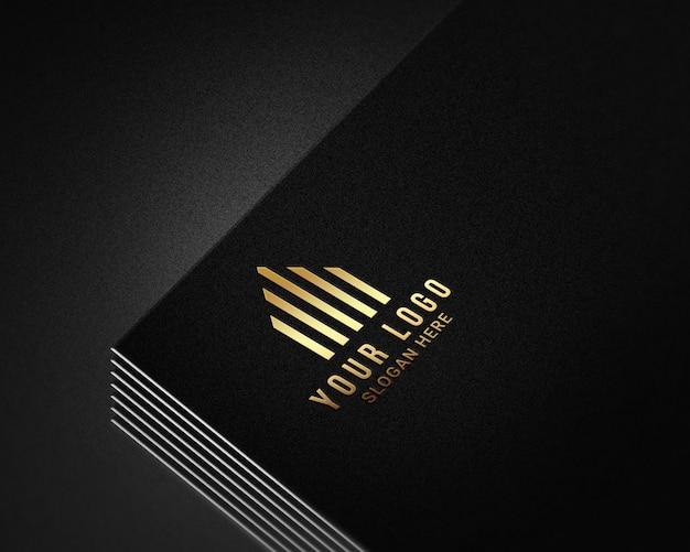 Современный реалистичный макет логотипа