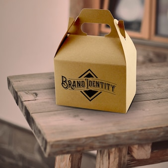 Коробка упаковка макет