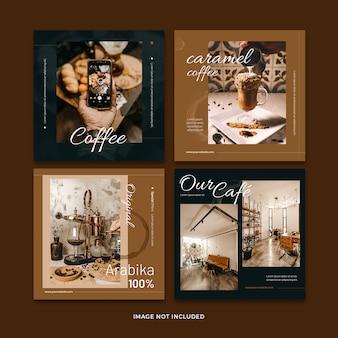 コーヒーバナーソーシャルメディア投稿テンプレートコレクション