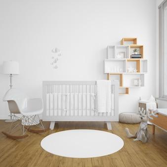 明るさのある赤ちゃんの部屋