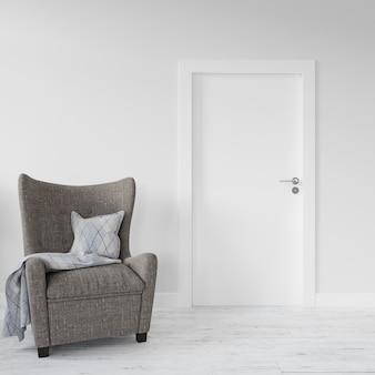 Стена с макетом пустой двери