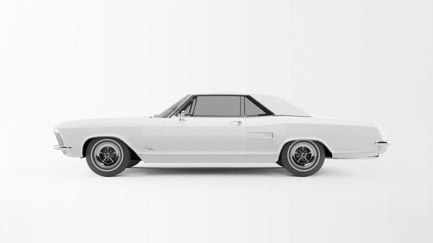 白い昔ながらの車