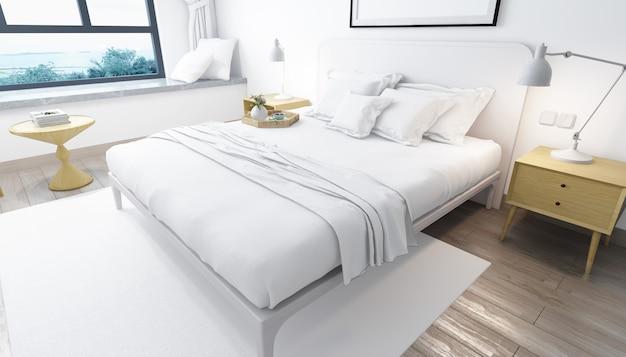 寝室の装飾と家具