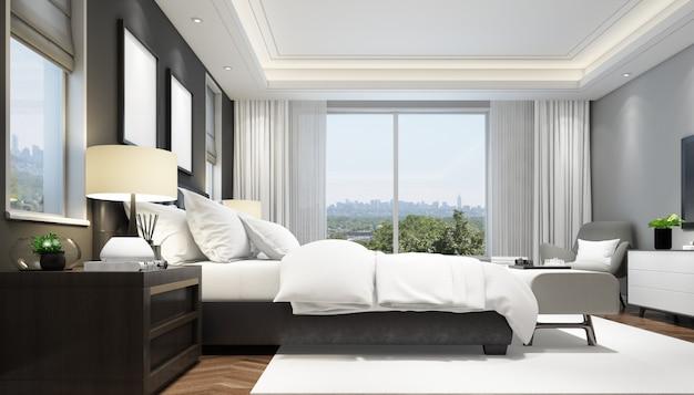 エレガントな寝室のインテリア
